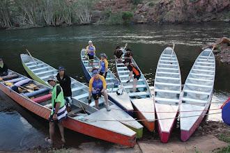Photo: The boats are ready!  photo by: Ave Gassman of the Kununurra Dragon Boat Club
