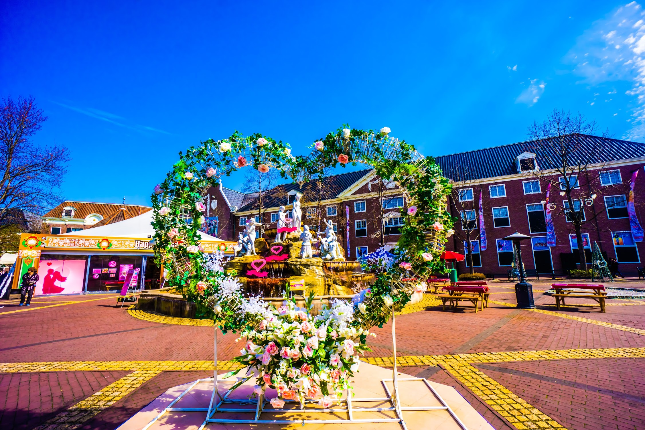 Huis Ten Bosch Heart square