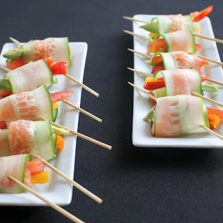 Cucumber and Smoked Salmon Lollipops.