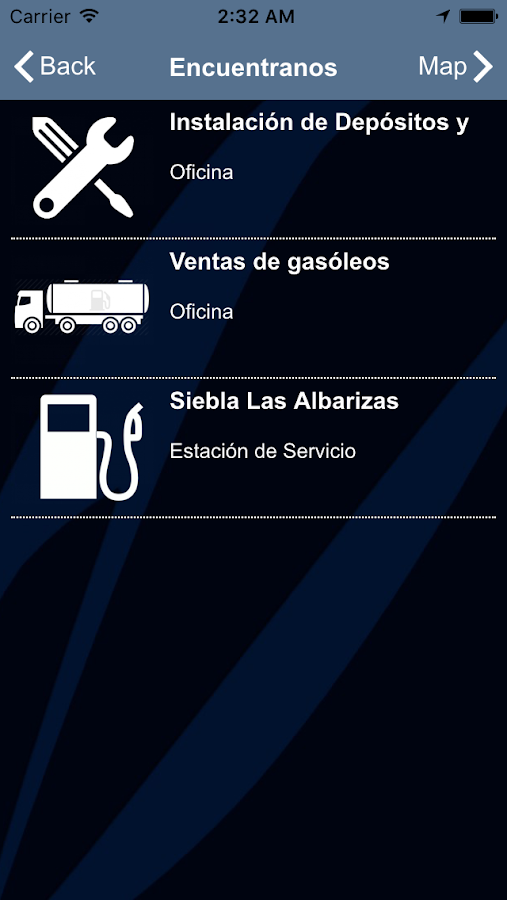Combustibles Siebla- screenshot