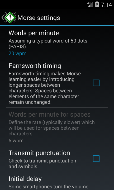 Morse Notifier Free- screenshot