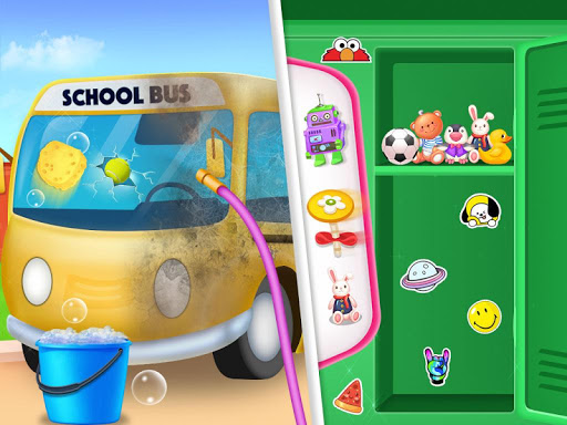 Messy School Cleaning - Bus classroom cleanup  screenshots 1
