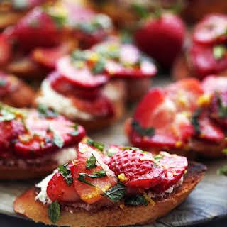 Balsamic Strawberry Ricotta Crostini.