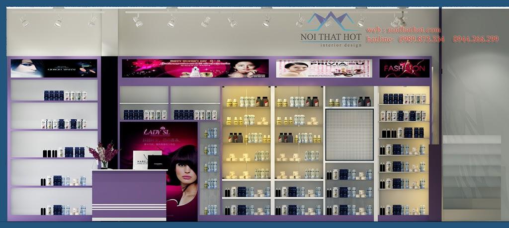 thiết kế shop mỹ phẩm đẹp và chuyên nghiệp