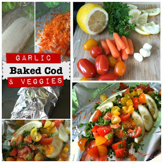 Easy Garlic Baked Cod with Vegetable Medley