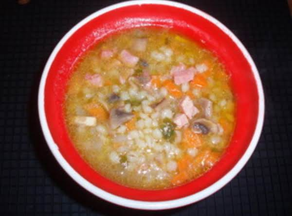 Barley Soup With Ham Recipe