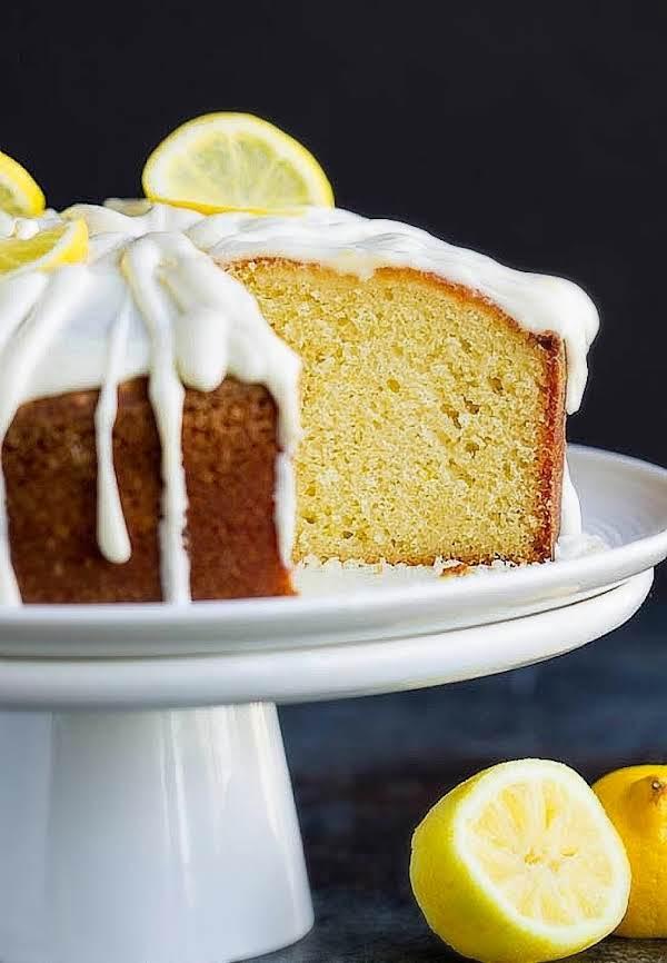 Citrus Pound Cake With Lemon Cream Cheese Frosting Recipe