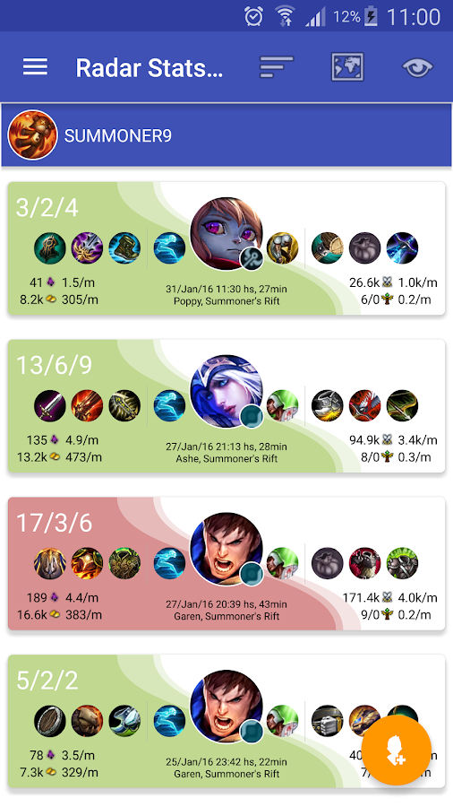 Radar Stats for LoL- screenshot