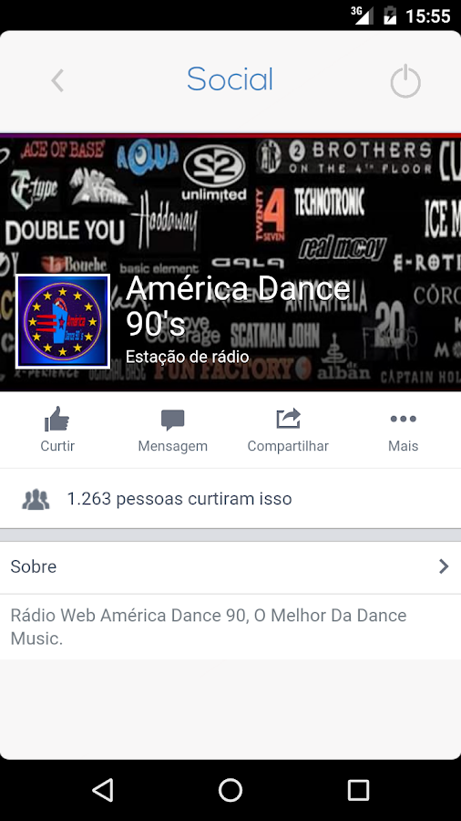 América Dance 90's: captura de tela