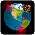 Quake & Volcanoes: 3D Globe of Volcanic Eruptions icon
