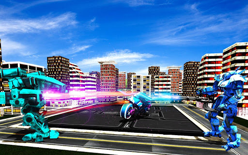 Real Moto Robot Transform: Flying Bike Robot Wars 1.0.23 screenshots 1