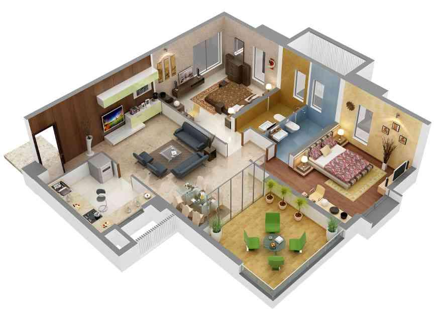 Home design floor plan free