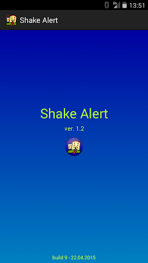 Earthquake Shake Alert