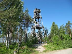 Photo: Lähes kaikki nousi 22 metriä korkeaan näköalatorniin.
