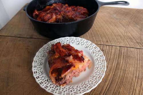 """Click Here for Recipe: Bacon Beefy Bake """"The recipe was easy and..."""