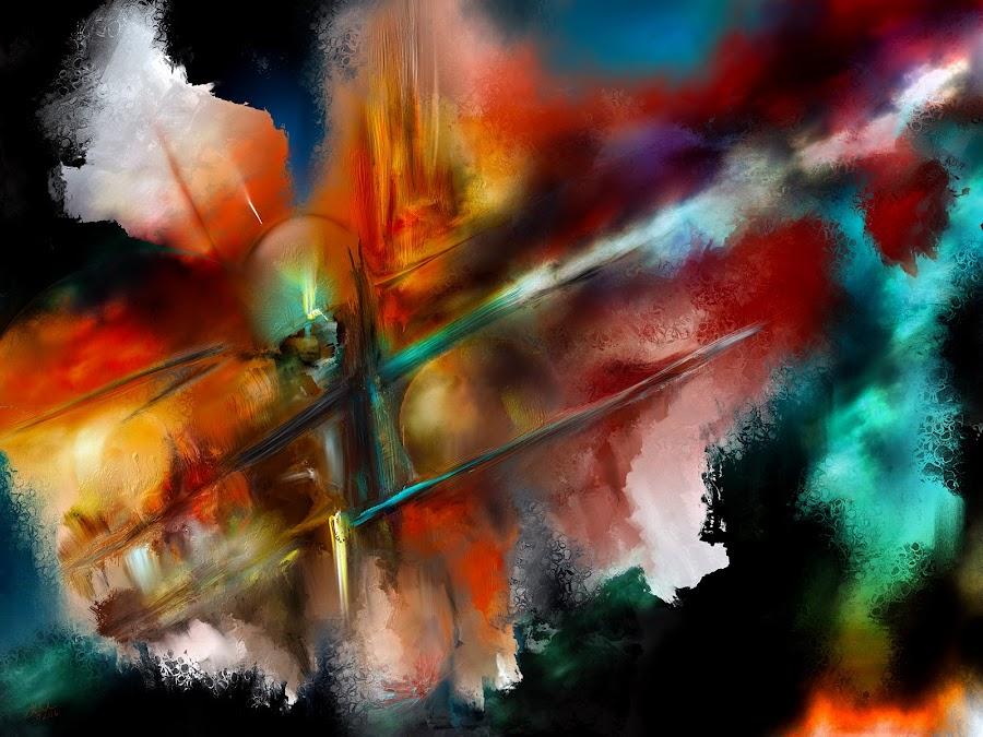Atlas Shrugged by Glen Sande - Painting All Painting ( modern, abstract, atlas shrugged, abstract art, expressionism, contemporary, fine art )