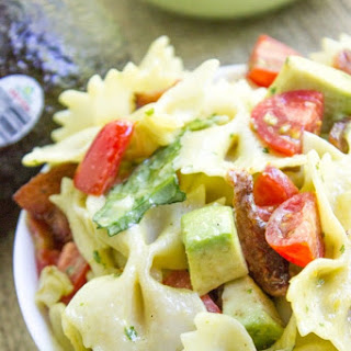 Mexican Avocado BLT Pasta Salad