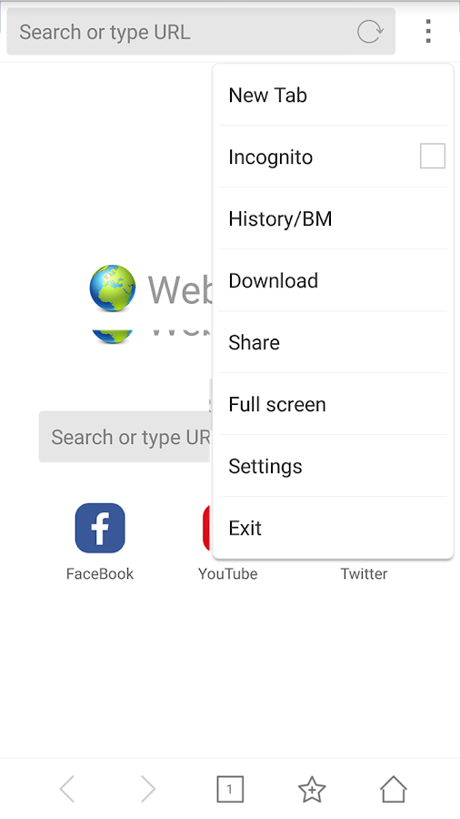 Browser for Android- screenshot