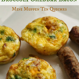 Broccoli Cheddar Bacon Muffin Tin Quiches