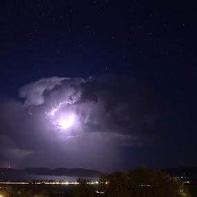 The Portal by Ben Steiner - Landscapes Weather ( lightning, stars, d7000, night, nikon )