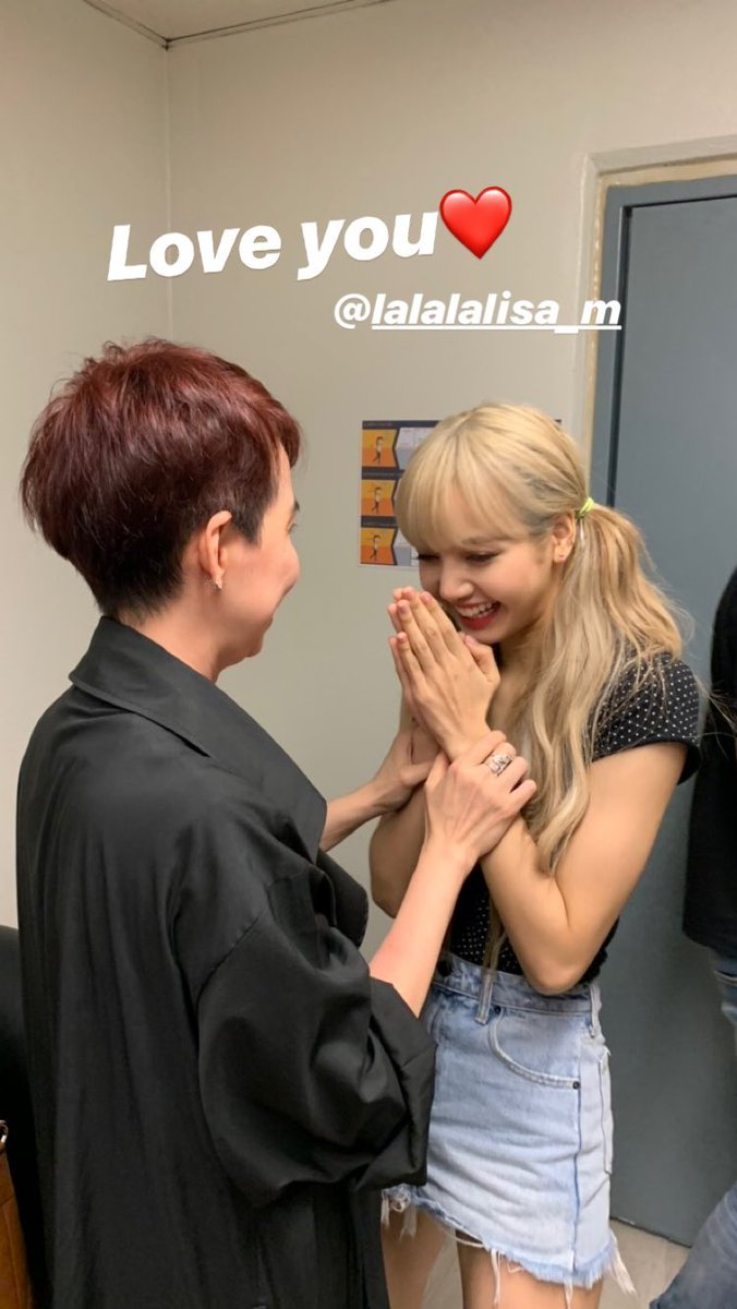 BLACKPINK Lisa and Kru Koy