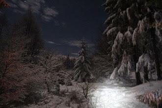 Photo: Takmer nočná zimná idyla