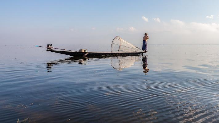 Pesca mattutina di pampurio