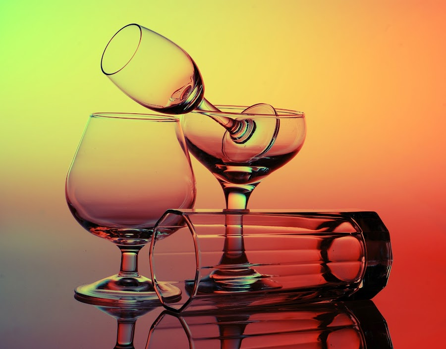 Glass by Meitra Handarto - Artistic Objects Glass ( champagne glasses )
