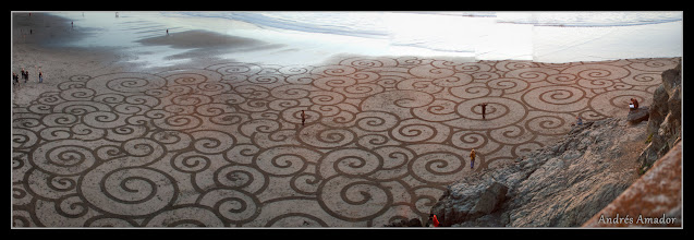 Photo: 'Clouds', Ocean Beach, SF. A panoramic view of the design. (in making pano's at the beach, waves get funky)