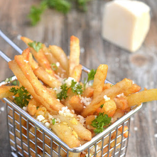Beer Battered Garlic & Parmesan French Fries.
