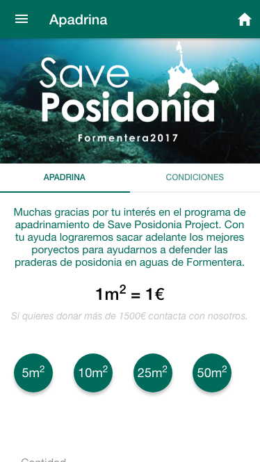 Save Posidonia Project- screenshot