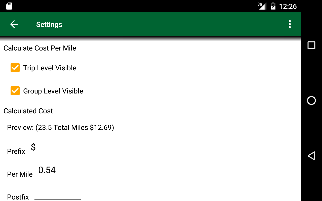 Track My Mileage and Expenses- screenshot