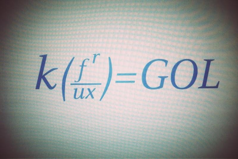 """Photo: Created an """"E=MC2"""" formula to explain the strategy."""