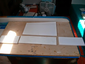 Photo: laying out box for galley storage