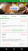 Screenshot of Ebates Cash Back & Coupons