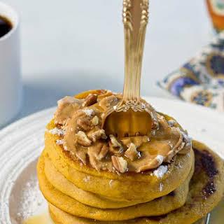 Peanut Butter Pumpkin Pancakes.