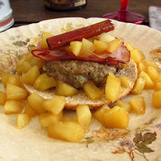 Burger With Apple And Bacon