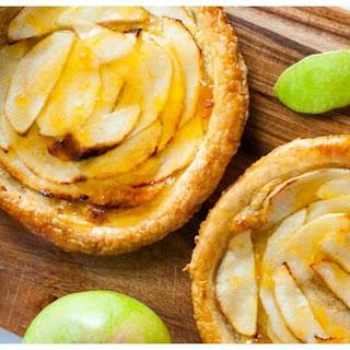 Apricot Glazed Apple Tart Puff Pastry.