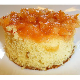 Peach Pineapple Upside-Down Cake.