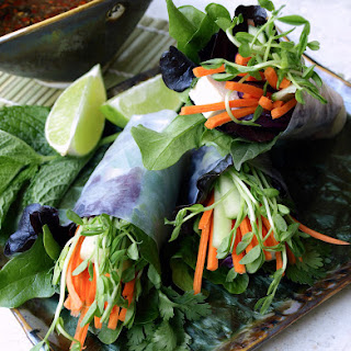 SUMMER ROLLS + TWO DIPPING SAUCES.