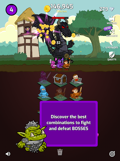 Merge Wars - Idle Hero Tycoon apkmind screenshots 11