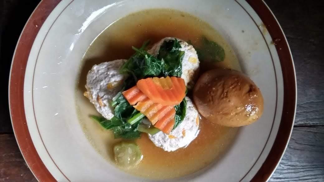 sayur bayam telur bumbu kecap