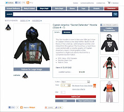 Photo: But I got so geeked over this Captain America hoodie, that all the other options fell to the wayside.  Click, add to cart, done.