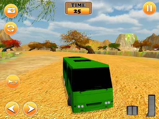 도로 관광 버스 심 3D 끄기