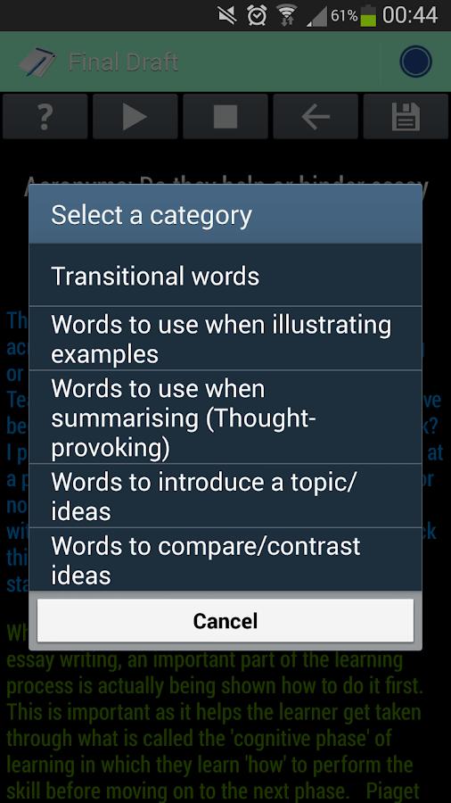 Transition Words studylib net