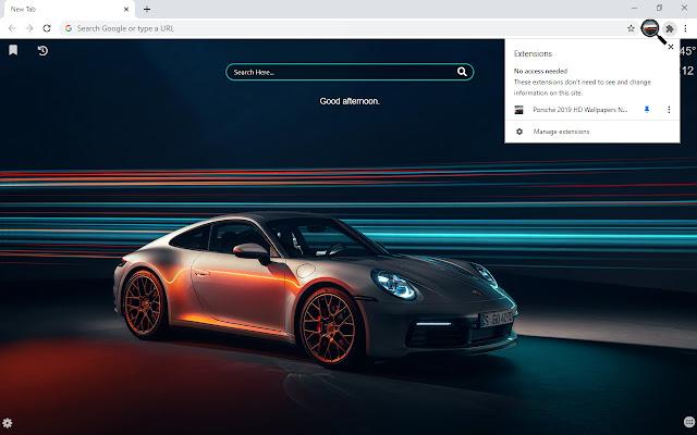 Porsche 2019 HD Wallpapers New Tab
