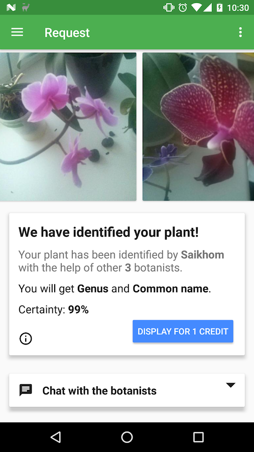 FlowerChecker+, plant identify- screenshot