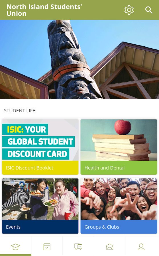 North Island Students' Union- screenshot