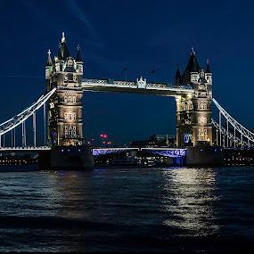 Tower Bridge by Nizam Akanjee - Buildings & Architecture Bridges & Suspended Structures ( london tower bridge, tower bridge, tower bridge at night, , city, night )