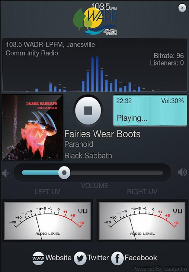 Janesville Community Radio- screenshot